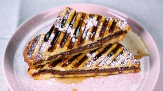 Hazelnut Chocolate Stuffed French Toast