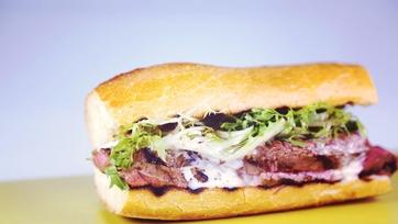 Grilled Steak & Fondue Sandwich
