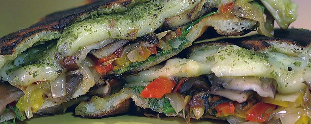 Naan Veggie Panini