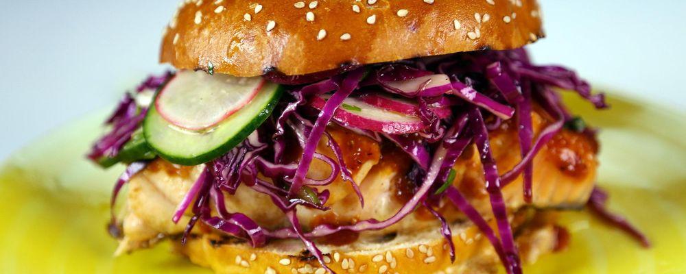 BBQ Salmon Sandwiches