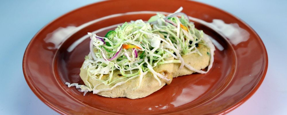 Pupusas with Spicy Slaw