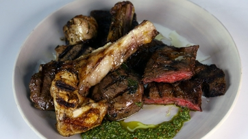 Father\'s Day Mixed Grill with Salsa Verde