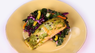 Salmon with Kale Salad