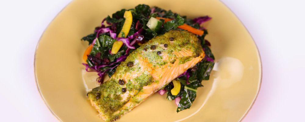 Salmon with Kale Salad
