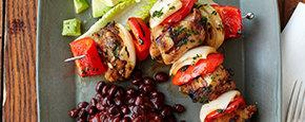 Peppery Chicken Kabobs