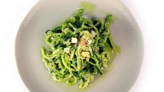 Zucchini Spaghetti with Arugula Pesto