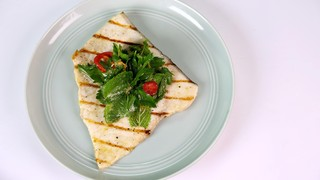 Swordfish Paillard with Spicy Grapefruit Salad