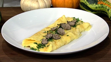 Omelet with Black Truffle and Robiola