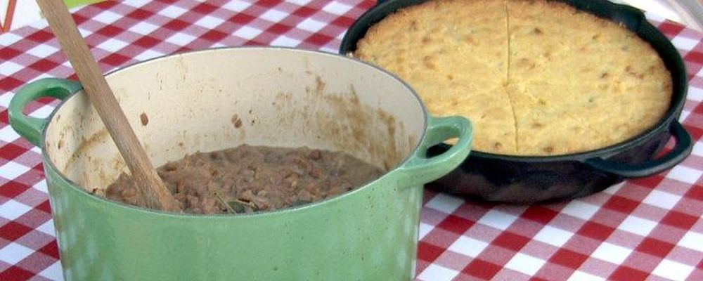 The Chew\'s Barrel Racing Beans and Cornbread