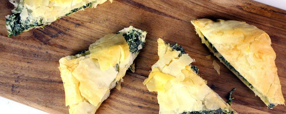Spanakopita: Lemon-Scented Spinach and Feta Pie