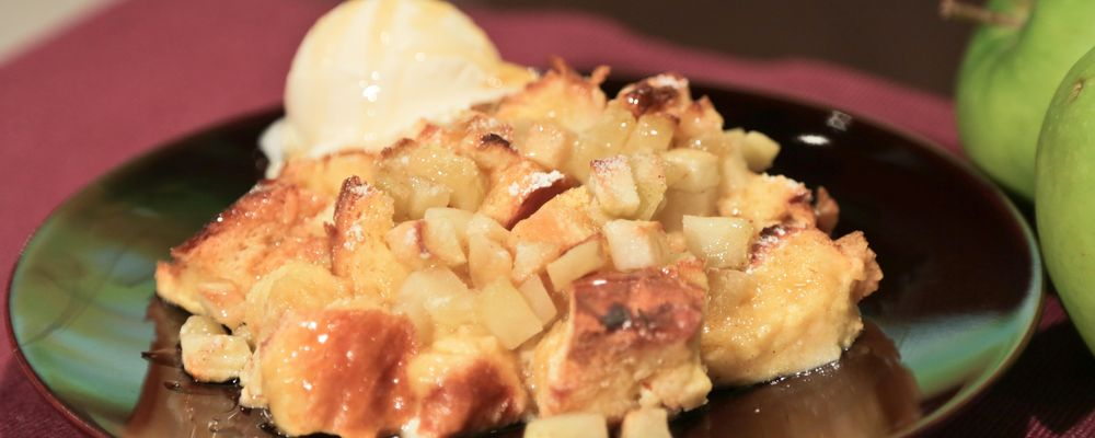 Carla Hall\'s Honey Apple Bread Pudding
