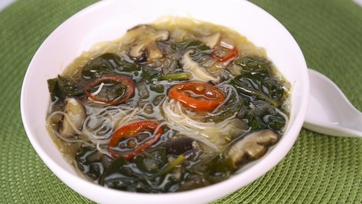 Spicy Mushroom & Noodle Soup