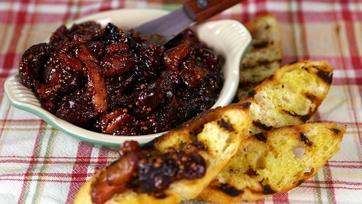 Dried Fruit Mostarda with Grilled Crostini