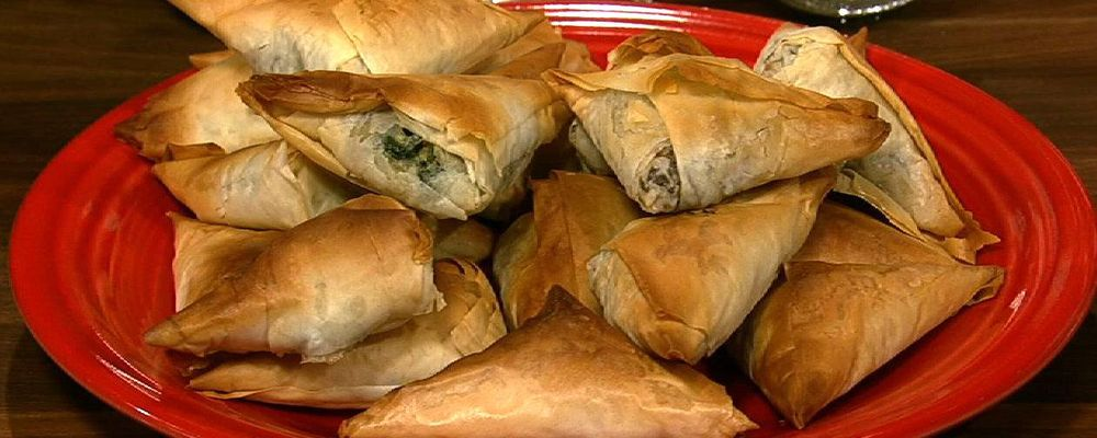 Michael Symon\'s Spinach Phyllo Pies