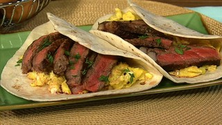 Steak and Scrambled Egg Tacos