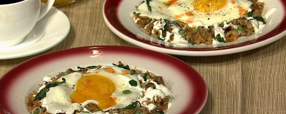 Hash Browns with Perfect Sunny Side Up Eggs