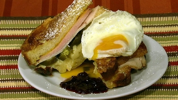 Monte Cristo with Fried Egg