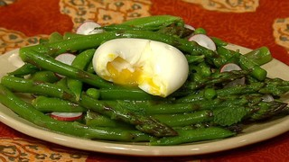 4 Minute Eggs with Spring Vegetable Salad