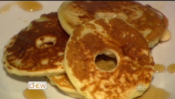 Pancake Apple Rings with Apple Cider Syrup