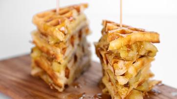 Banana Waffle Sandwich