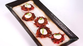 Beet Potato Pancakes
