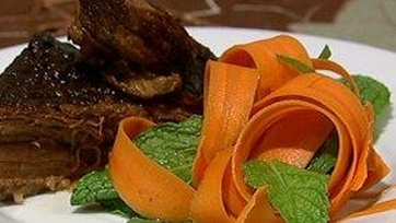 Pot Roast with Shaved Carrot Salad