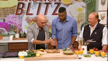Michael Strahan and Michael Symon\'s Tomato & Ricotta Tart: Part 2
