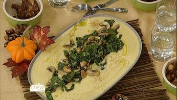 Corn Pudding with Collards & Mushrooms Recipe: Part 2