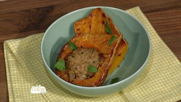 Turkey Meatloaf Stuffed Squash: Part 1