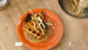 Tricked Out Sausage Gravy and Waffles