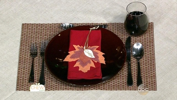 Fabric Leaf Place Cards