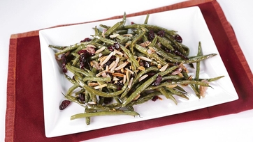 Roasted Green Beans with Warm Vinaigrette: Part 1