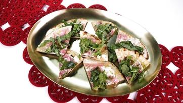 Festive Salami Flatbread
