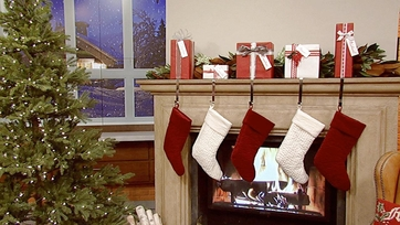 Very Merry Mantel: Gift-Wrapped Stocking Holders – Part 1