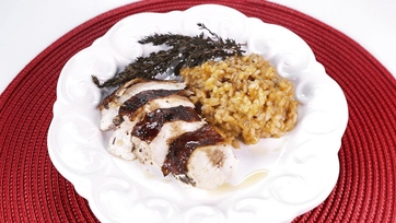 Red Wine Stained Capon and Risotto: Part 1