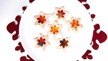 Stained Glass Shortbread Holiday Cookies