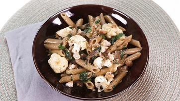 Whole Wheat Pasta with Tuscan-Style Cauliflower: Part 2