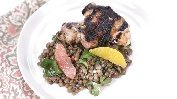 Citrus-Marinated Chicken with Lentil-Herb Salad: Part 1