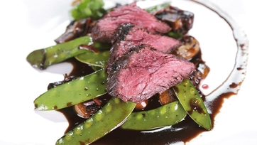 Marinated Steak with Mushrooms and Snow Peas: Part 1