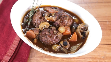 Chicken Meatball Bourguignon: Part 2