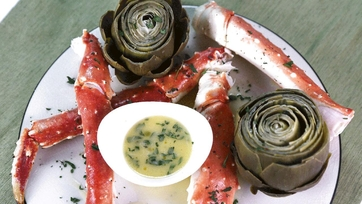 King Crab Legs with Artichokes and Champagne: Part 1