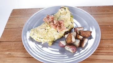 Portuguese Omelet with Home Fries