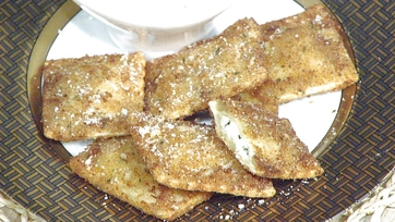 Toasted Ravioli with Pecorino Fonduta: Part 1