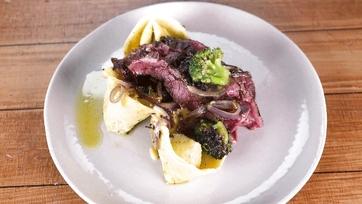 Skirt Steak with White Bean Tortelloni: Part 1