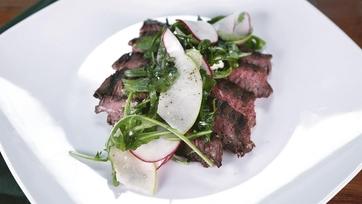 Marinated Skirt Steak with Arugula Radish Salad: Part 1
