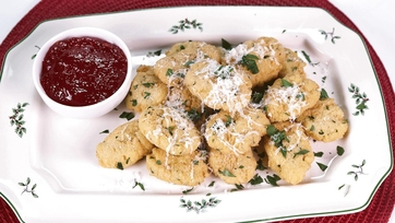Chickpea Fritters with Hot Chili Jam