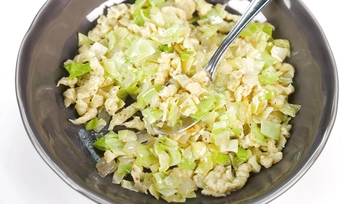 Spaetzle with Cabbage & Mustard: Part 1