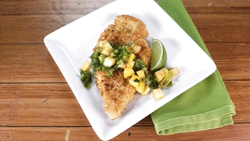 Macadamia Crusted Chicken with Mango-Citrus Salsa: Part 1