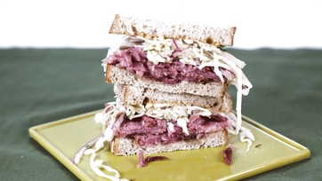 Glazed Corned Beef and Cabbage on Rye