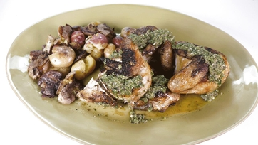 Spatchcock Chicken with Smashed Potatoes and Salsa Verde: Part 1
